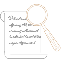 magnifying glass searching paper